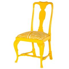 Yellow Upholstered Dining Room Chairs Booster Chair Walmart Vintage Queen Anne At 1stdibs