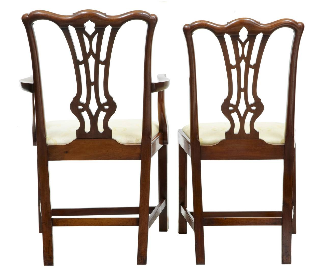 medieval dining chairs tanning lounge chair 19th century set of eight chippendale gothic mahogany