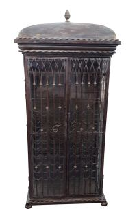 One-of-a-Kind Wrought Iron Wine Cabinet at 1stdibs
