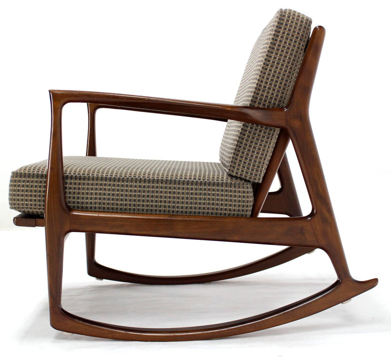 mid century rocker chair plus size camping danish modern rocking by selig at 1stdibs