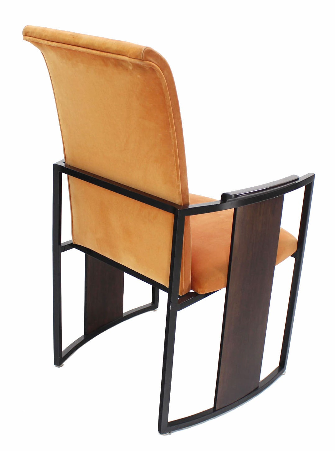modern aluminum chair yoli linens and covers set of six mid century metal rosewood frame