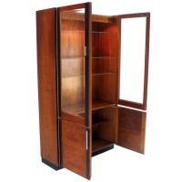 Walnut and Rosewood Modern Vitrine Display Cabinet in the ...