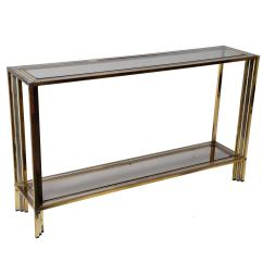 Vogue Chrome Sofa Table Beds Gumtree Glasgow Vintage Brass And French Console At 1stdibs