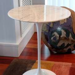 Living Room Furniture Ma Houzz Rugs Saarinen Tulip Side Table With Marble Top By Knoll At 1stdibs