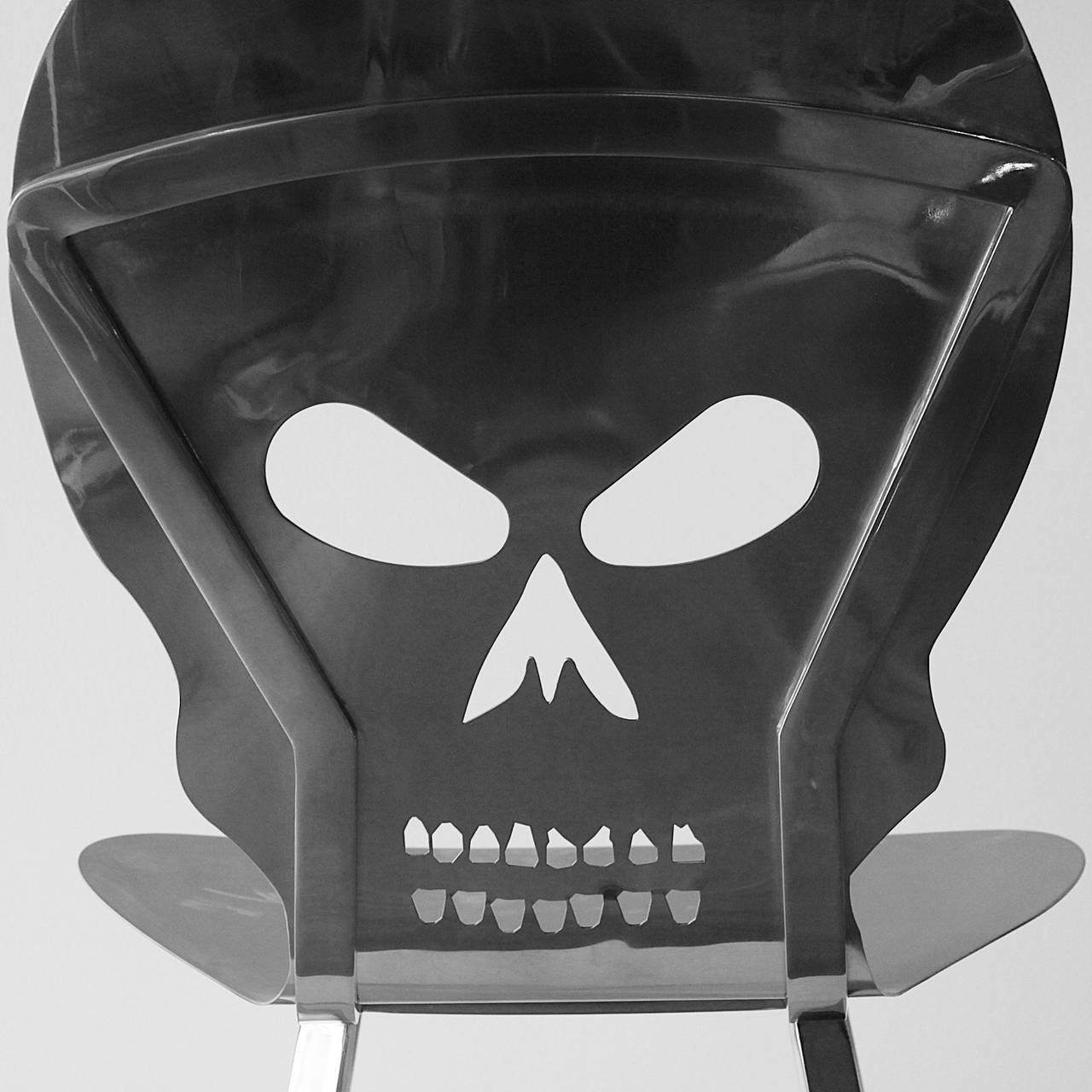 skull chair kids wood chairs cadeira caveira inox by alê jordão at 1stdibs