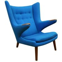 "Mid Century Danish Modern ""Papa Bear"" Chair by Hans Wegner ..."