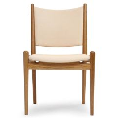 Oak And White Dining Chairs Simple Wooden Chair Leather By Hans Wegner At 1stdibs