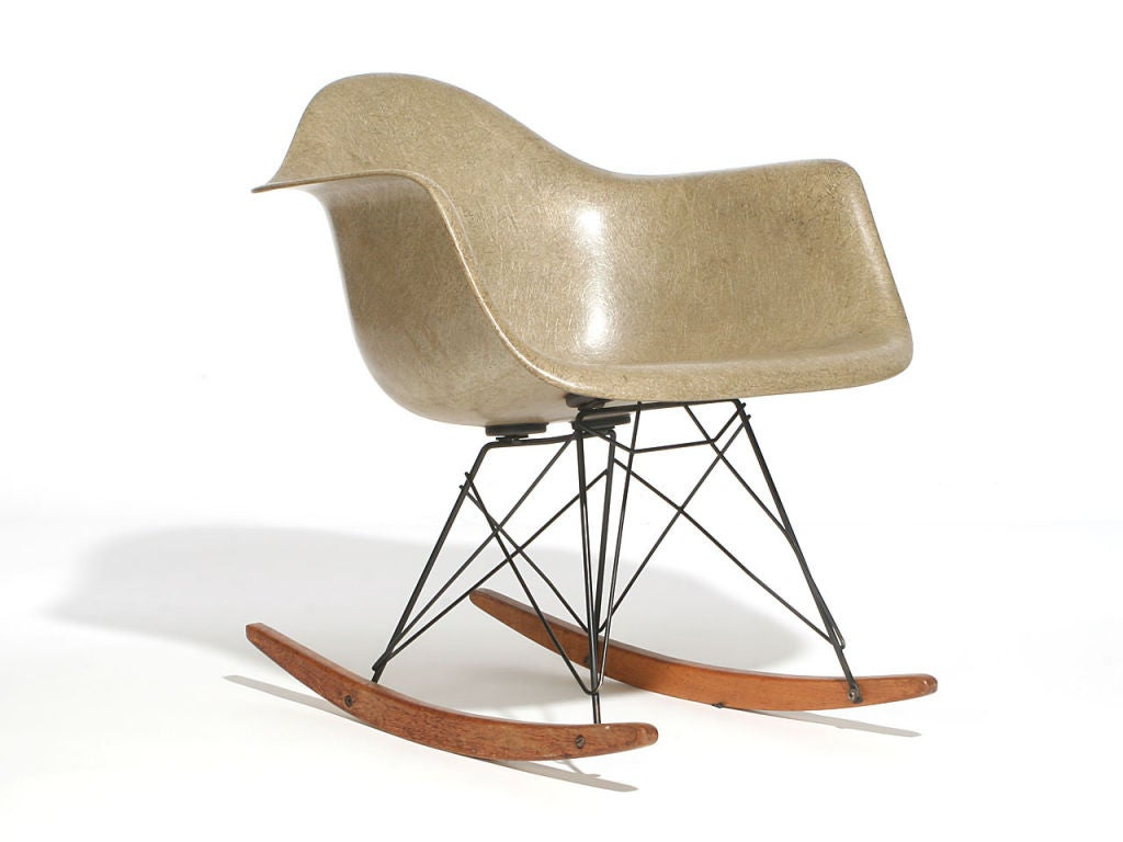 eames rocking chair inversion for back pain zenith shell rare by charles and ray