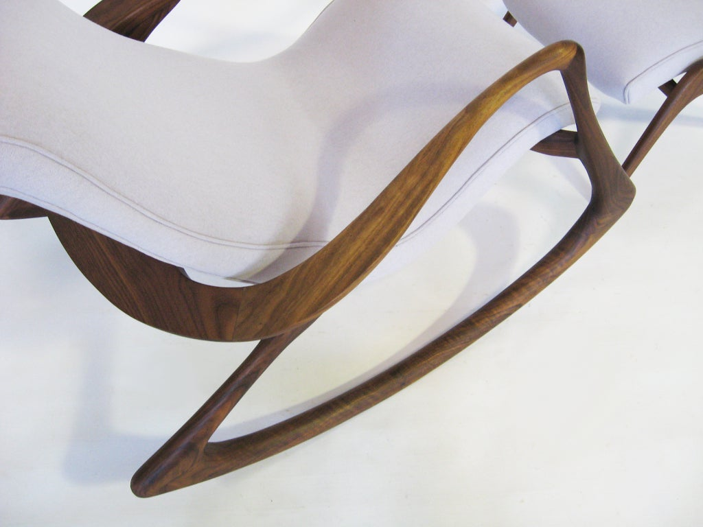 vladimir kagan rocking chair proper posture office contour and ottoman by at 1stdibs