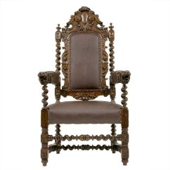 Barley Twist Chair Wooden Chairs For Dining Room Carved Victorian Oak Throne At 1stdibs