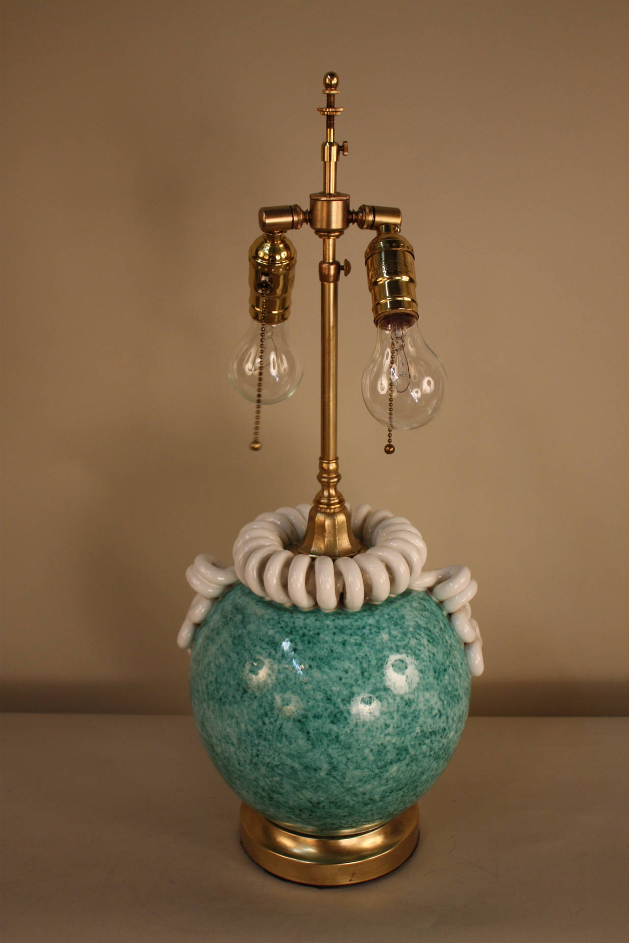 Italian Handmade Pottery Table Lamp at 1stdibs