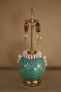 Italian Handmade Pottery Table Lamp at 1stdibs