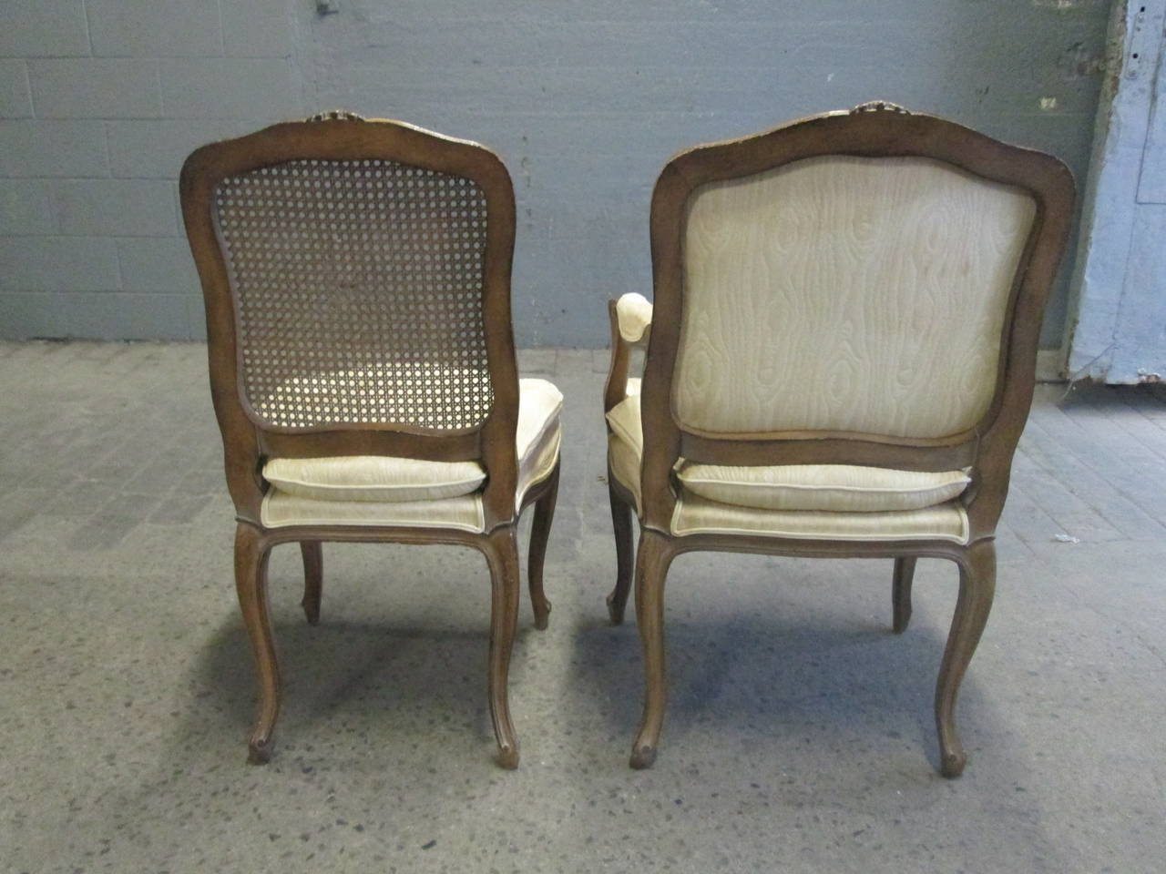 french cane back dining chairs director chair cover pattern style set table w two