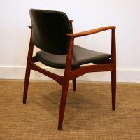 Vintage Teak Captain's Chair by Erik Buck at 1stdibs