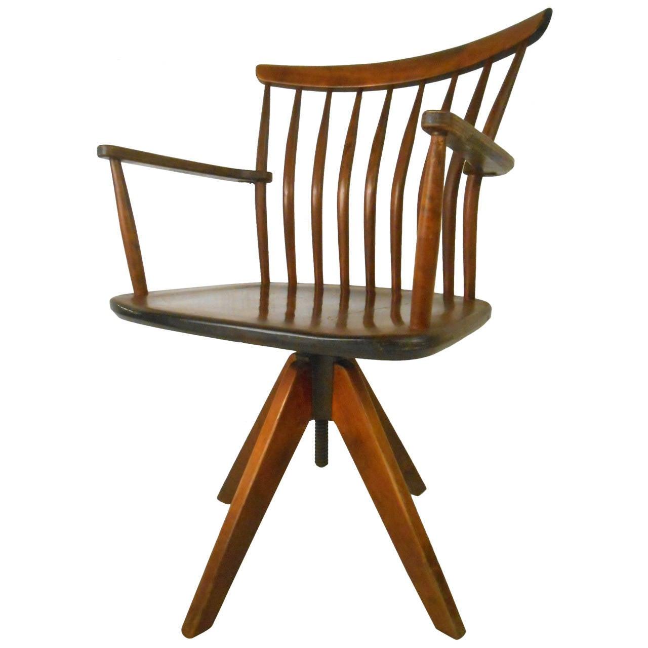 unique office chair covers rental dublin mid century modern teak spoke back swivel desk