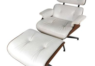 White Plycraft Lounge Chair