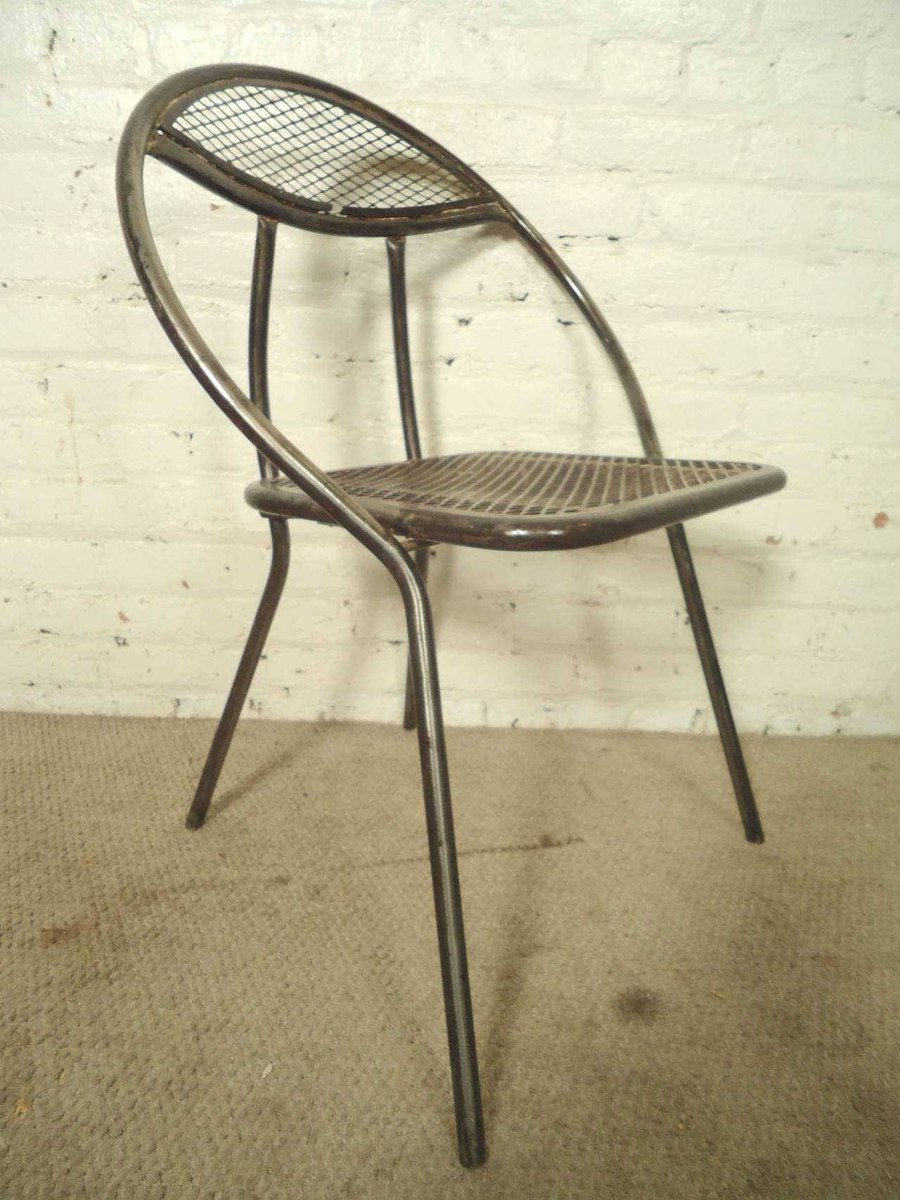 Mid Century Patio Chairs Mid Century Metal Patio Chairs By Rid Jid At 1stdibs