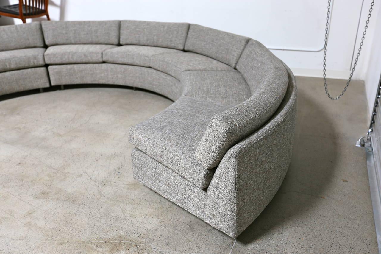 circular sofas beautiful sectional sofa by milo baughman at 1stdibs