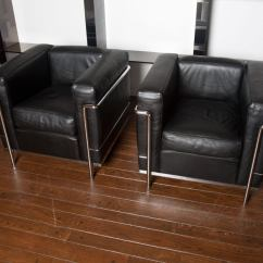 Corbusier Lounge Chair How Much Weight Can A Gaming Hold Pair Of Lc2 Le Chairs By Cassina At 1stdibs