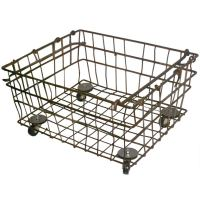 Industrial Wire Storage Basket on Wheels; Quantity