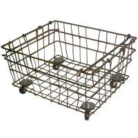 Industrial Wire Storage Basket on Wheels; Quantity