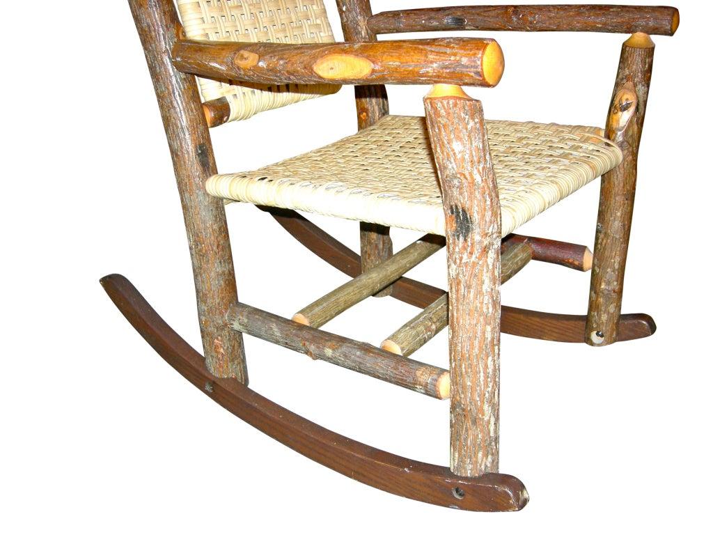 handmade rocking chairs swing chair baby sale rustic at 1stdibs