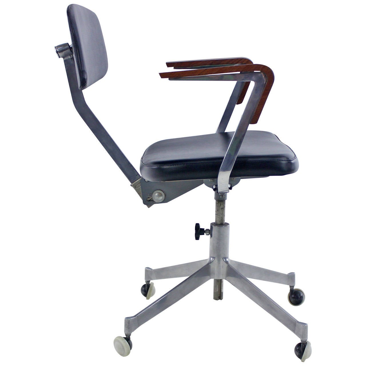 desk chair utm white leather accent danish modern office by cardinal at 1stdibs