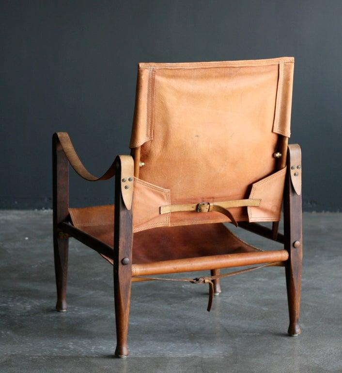 leather safari chair ikea children's covers kaare klint at 1stdibs