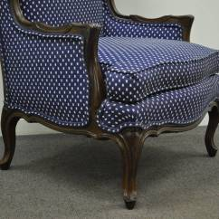 Country Style Wingback Chairs Ekornes Stressless Chair Vintage French Louis Xv Or Carved