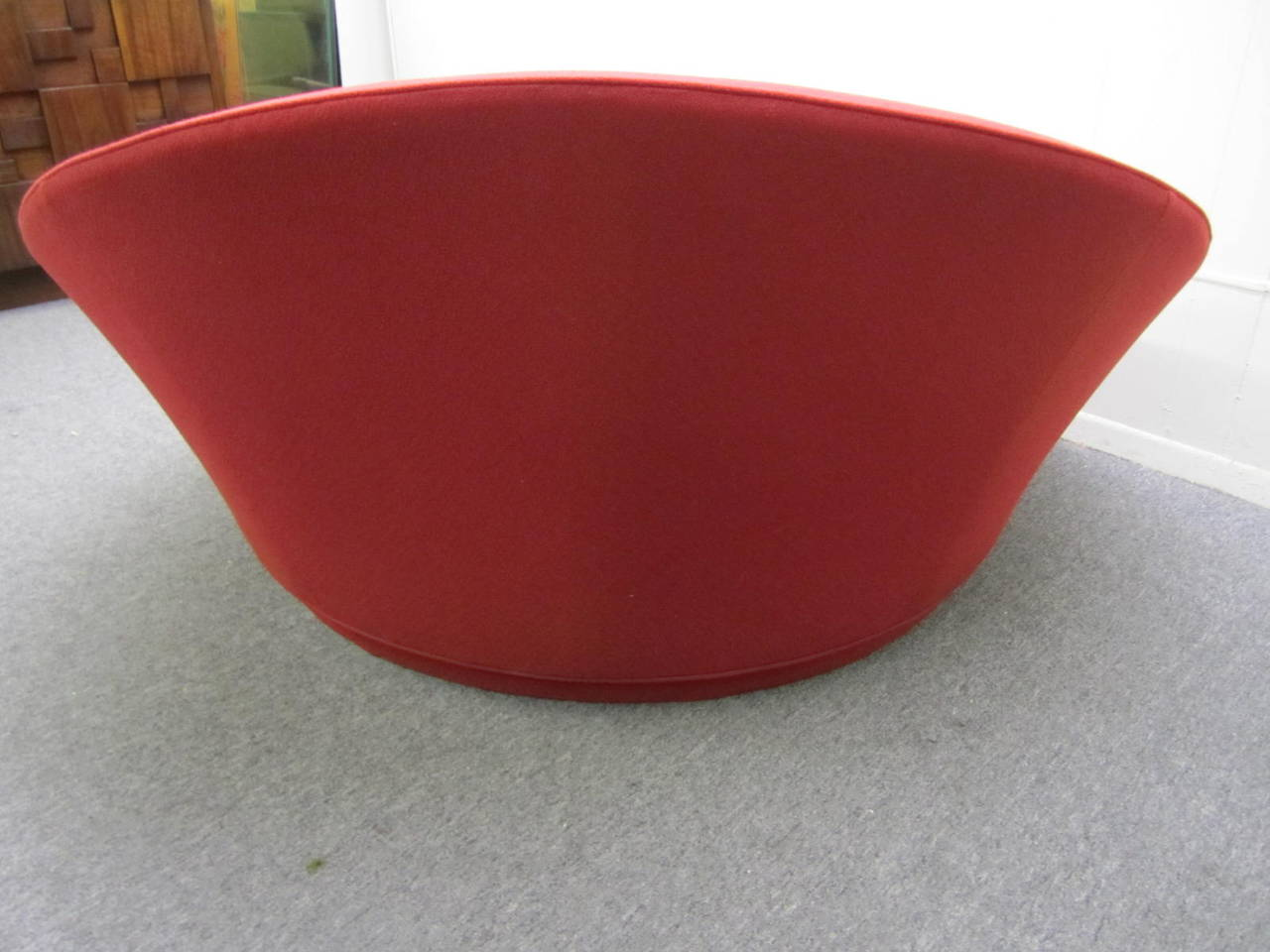 circular lounge chair kmart dining room cushions fabulous round by milo baughman mid