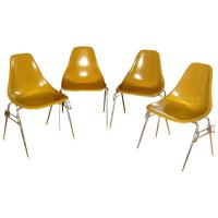 Eames 4 pcs Mid Century Modern Chairs at 1stdibs