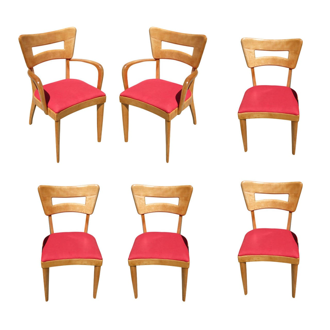 heywood wakefield dogbone chairs chair mats for hard floors m154 quotdogbone quot dining set of six
