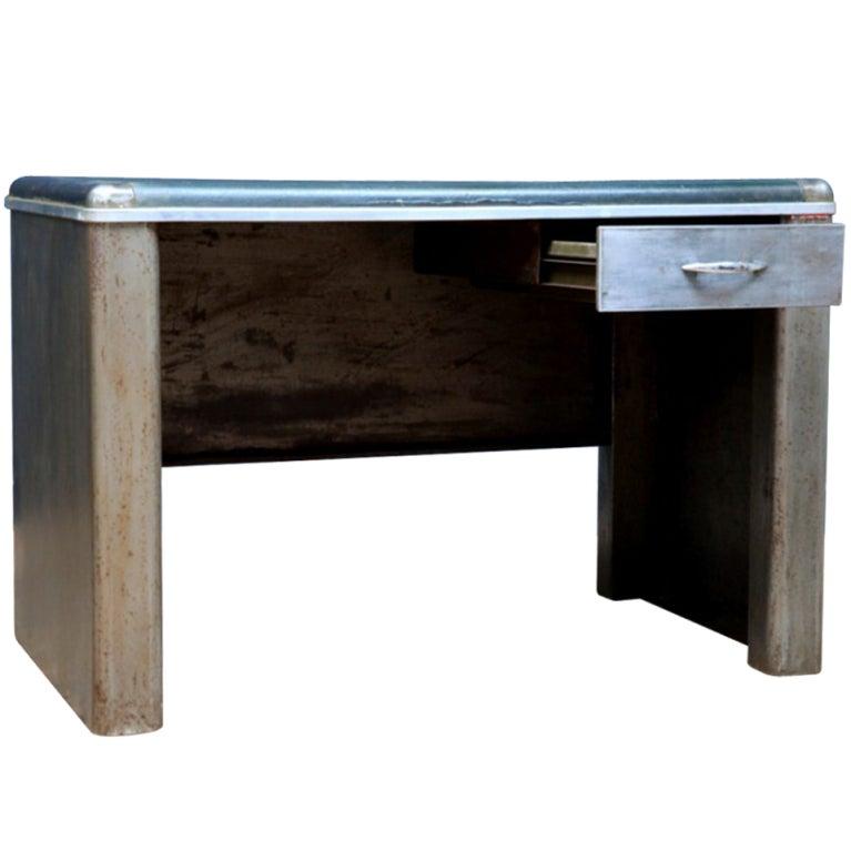 Small metal writing desk at 1stdibs