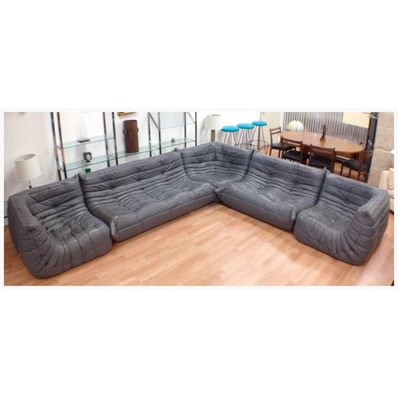 togo sofa price hughes furniture serta exceptional five piece gray leather ligne roset