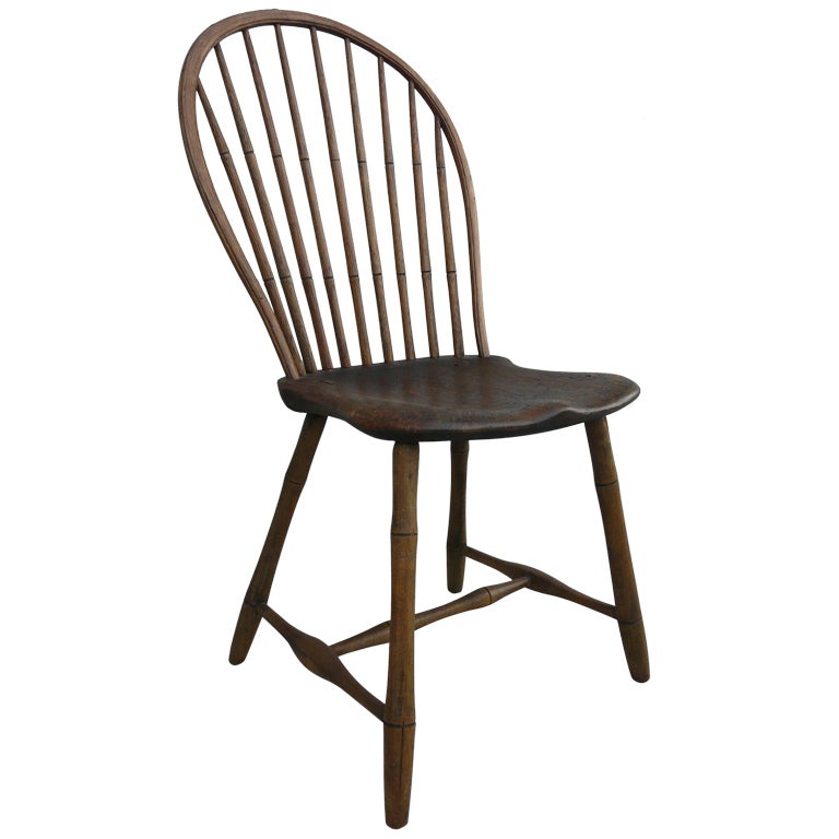revolving chair thames for parlour very old american hoop back windsor at 1stdibs