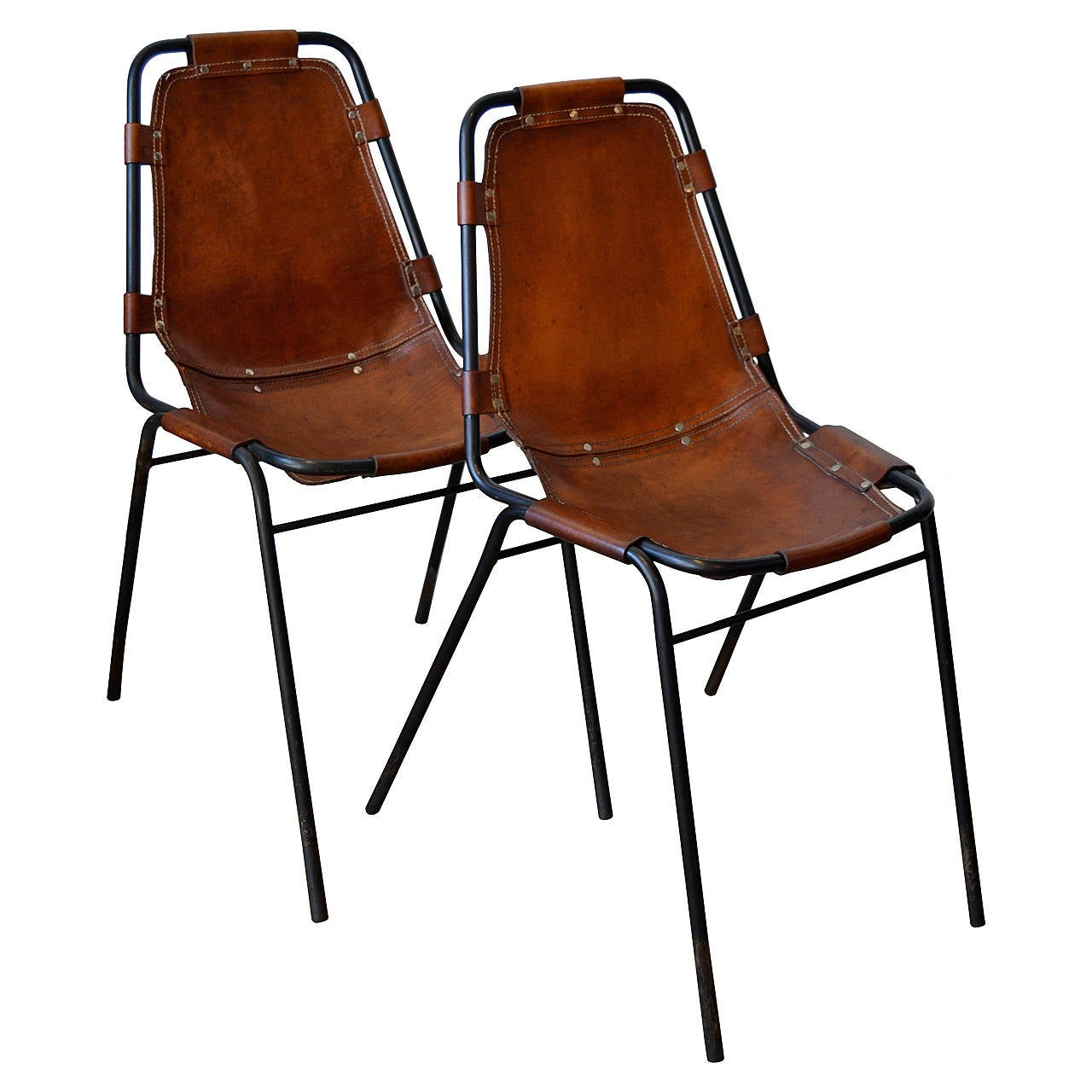 Metal And Leather Chair Charlotte Perriand Quotles Arcs Quot Metal And Leather Side