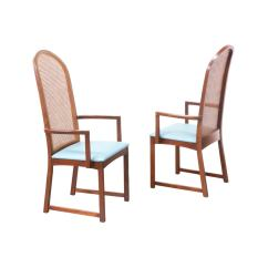 Milo Baughman Dining Chairs Gooseneck Rocking Chair With Cane Backrest For Thayer