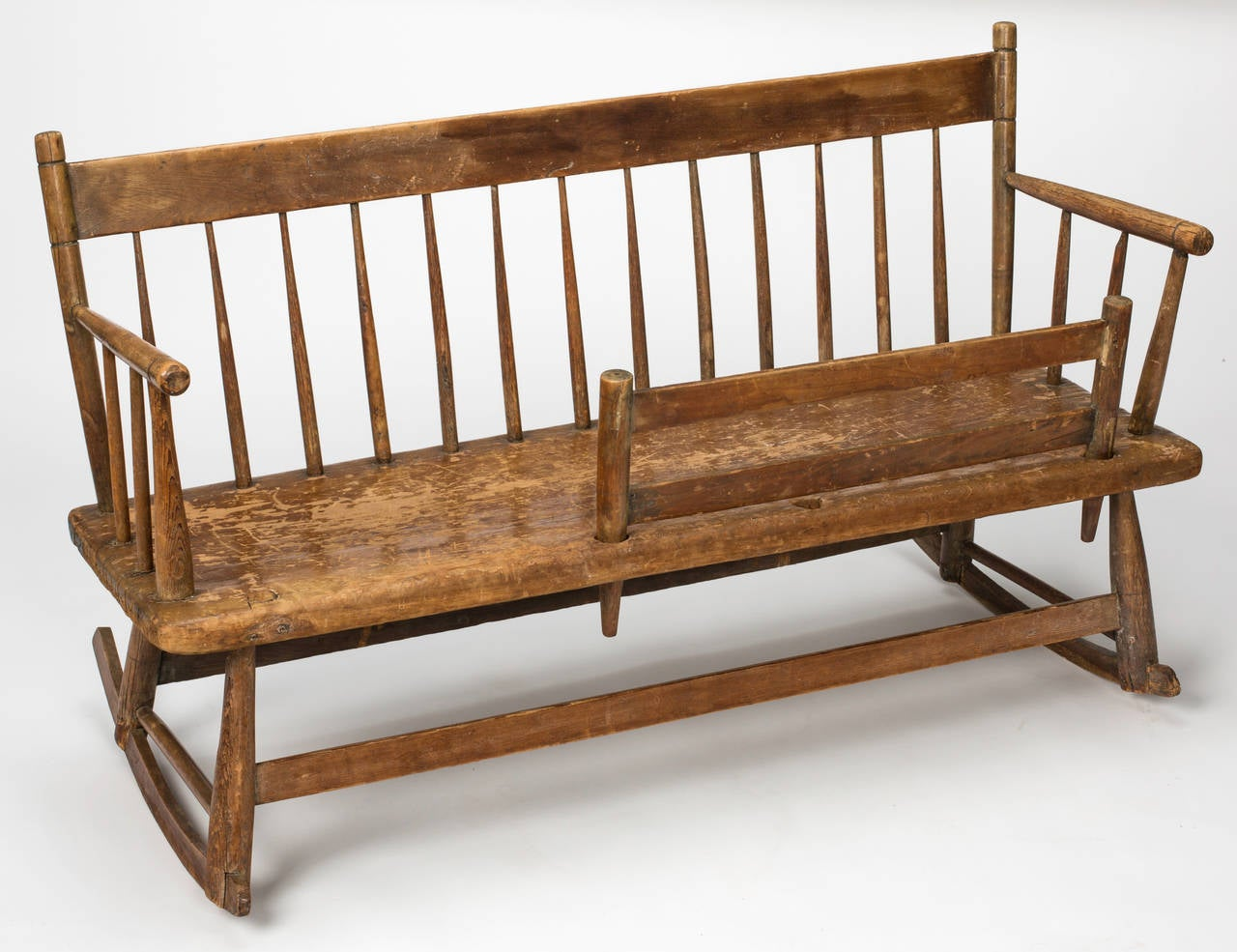 rocking chair cradle pontoon captains early american mammy 39s rocker bench circa 1830s at 1stdibs