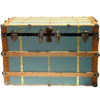Large Antique Cargo Trunk Blue Duck at 1stdibs