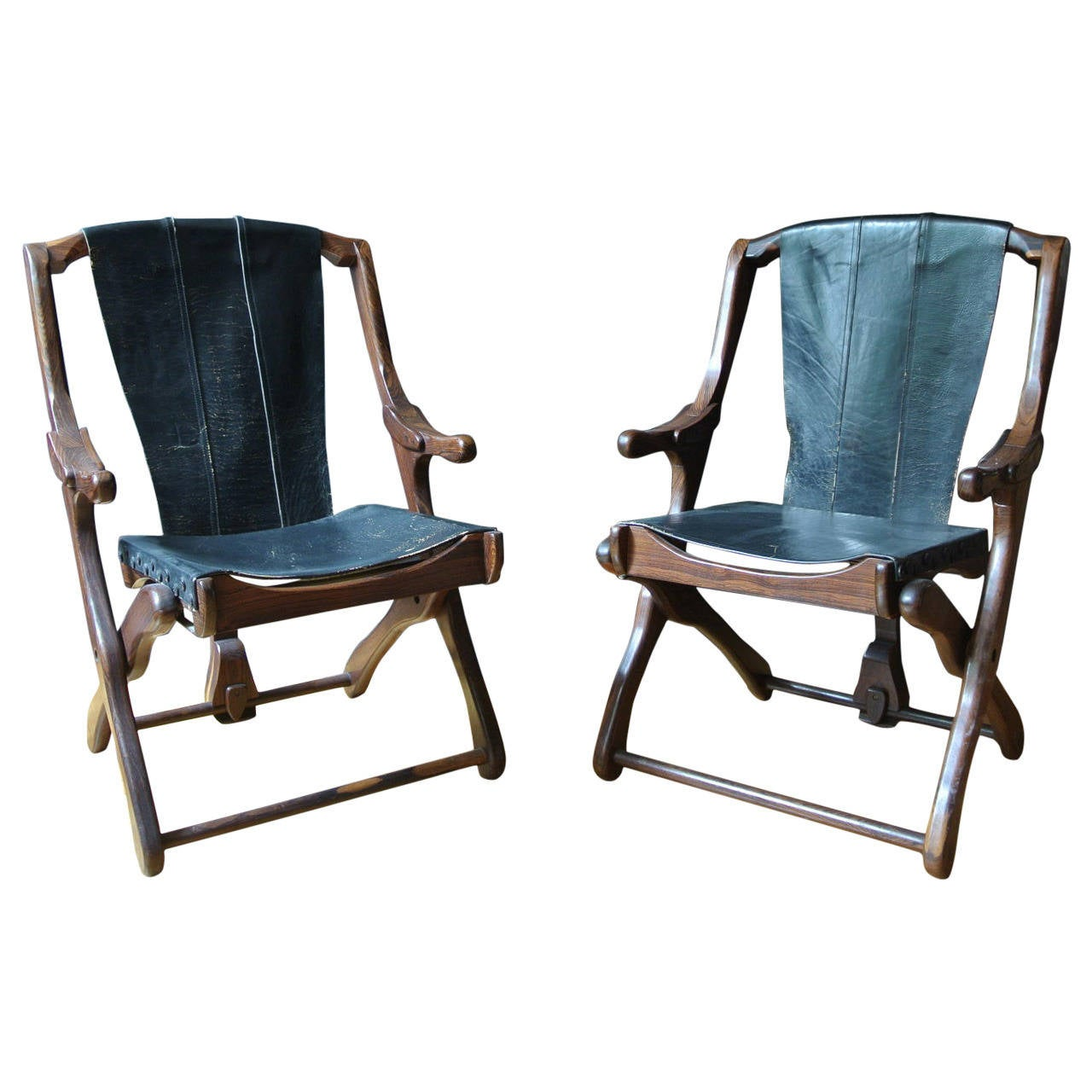 sling folding chairs stair for the elderly pair of don shoemaker chair at 1stdibs