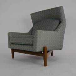 Big Chair With Ottoman Samsonite Folding Parts Rare Jens Risom Quotbig Quot At 1stdibs