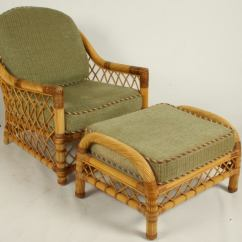Wicker Chairs With Ottoman Underneath Chair Rentals For Wedding Bielecky Bros Rattan Lounge And Two