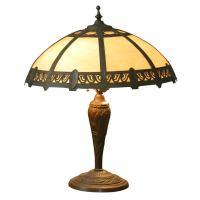Slag Glass Table Lamp at 1stdibs