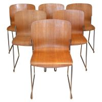Set 8 Mid-Century Modern Stacking Chairs by David Rowland ...