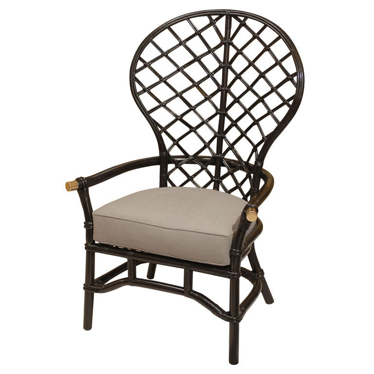 Rattan Fan Back Chair at 1stdibs