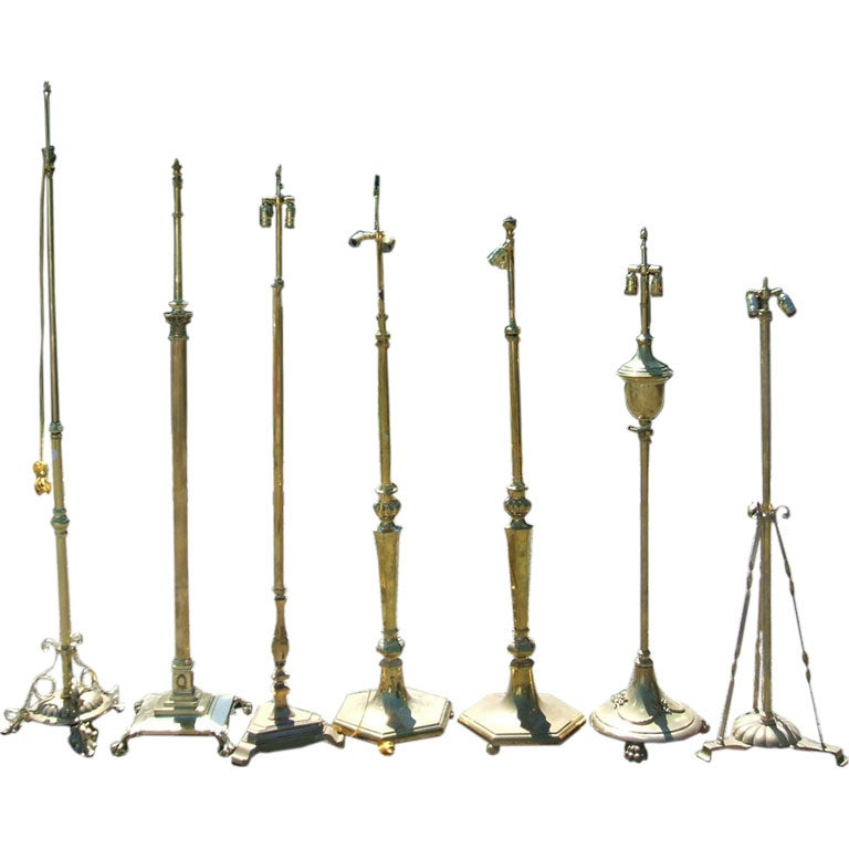 Antique Brass Floor Lamps at 1stdibs
