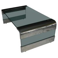 PACE COLLECTION POLISHED STEEL WATERFALL COFFEE TABLE at ...