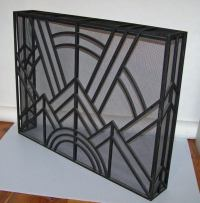 Art Deco Inspired Fire Screen at 1stdibs