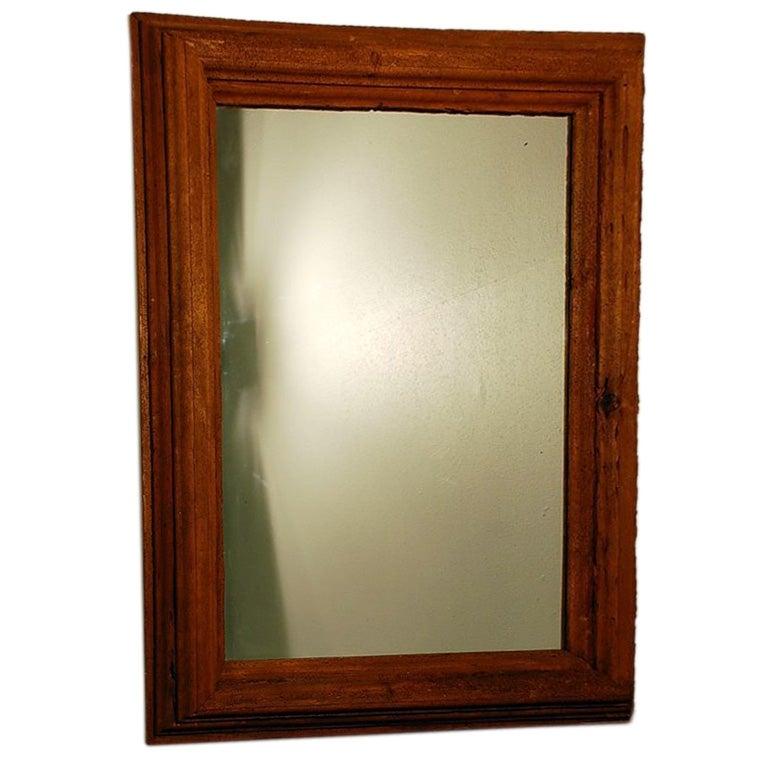 Large rustic mirror at 1stdibs