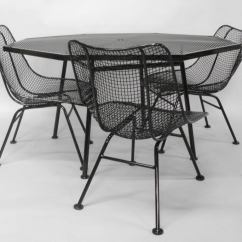 Iron Table And Chairs Set Steel Chair Price In Nepal Wrought Mesh With By Russell Woodard